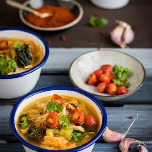 Fresh vegetable minestrone