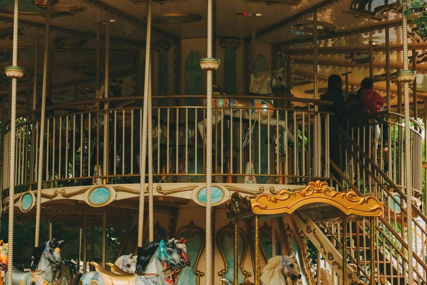The carousel horses of Play with Us