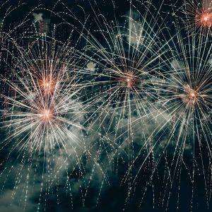 Fuochi d'artificio in piazza San Marco